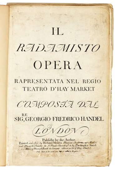 """View 2. Thumbnail of Lot 48. G.F. Handel. First edition of the oratorio """"Esther"""" and three others by Handel and Corelli, 1700-1739."""