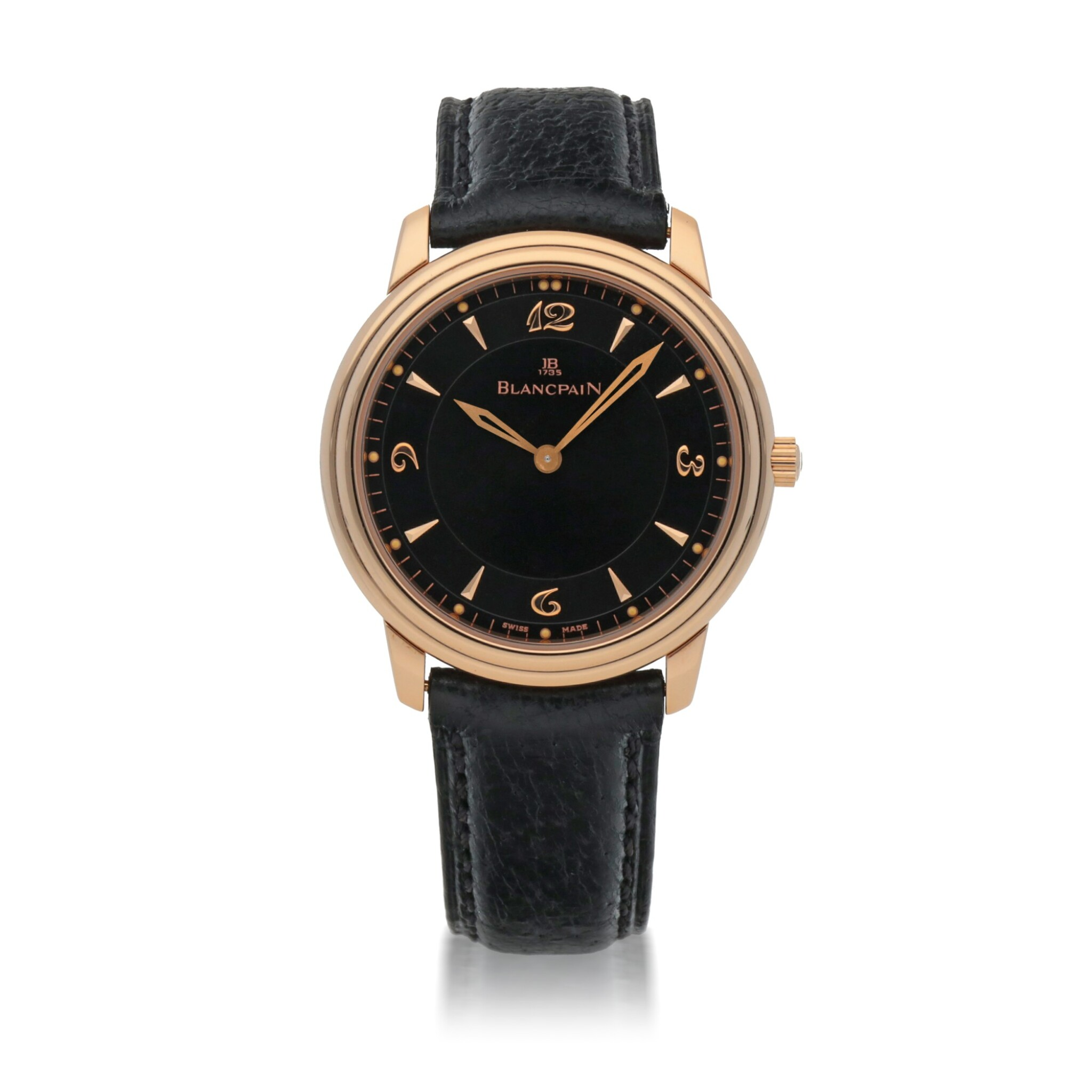 View full screen - View 1 of Lot 458. REF 2021.3630 PINK GOLD WRISTWATCH CIRCA 2010.