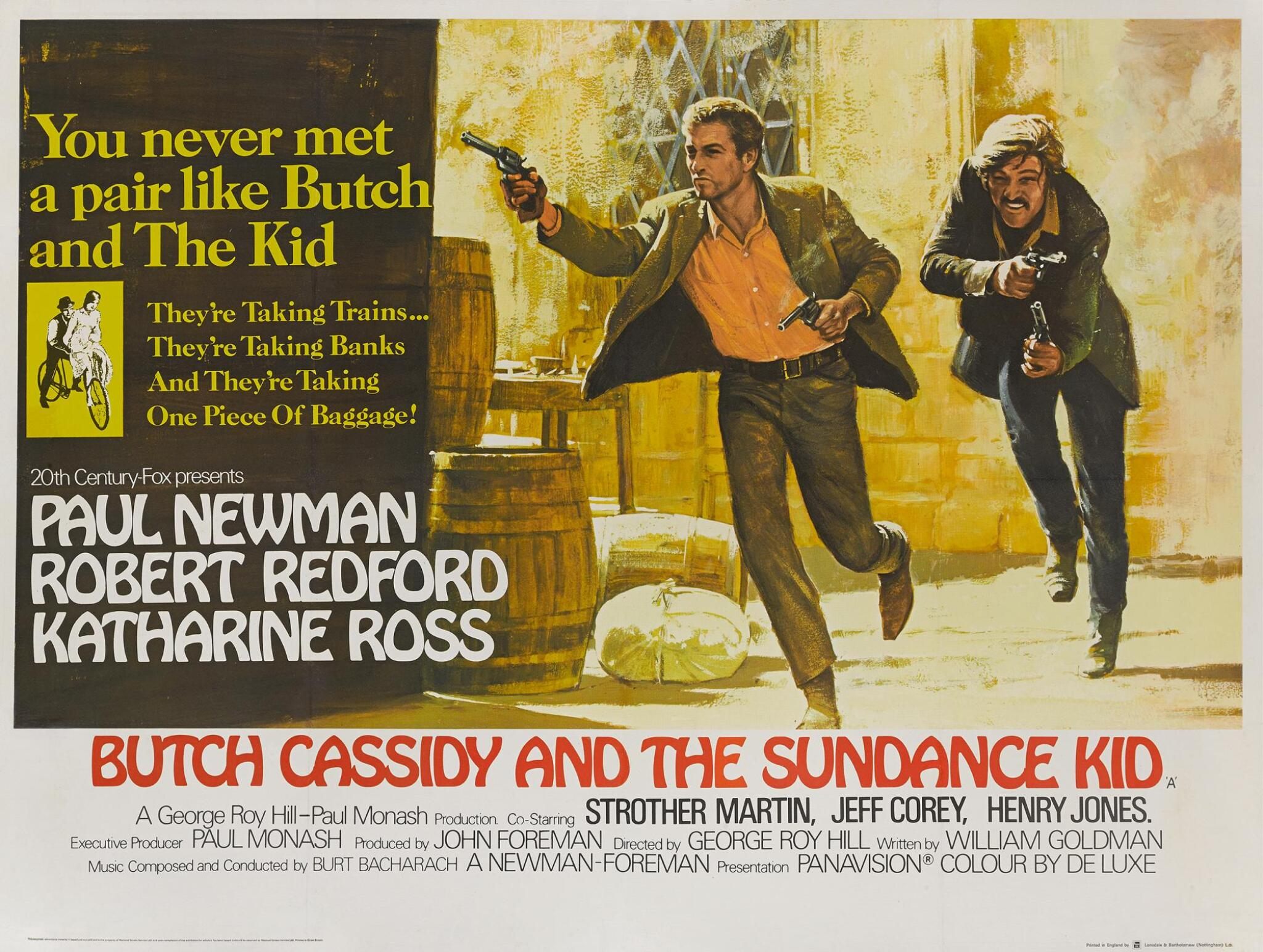 View full screen - View 1 of Lot 1054.  BUTCH CASSIDY AND THE SUNDANCE KID (1969), POSTER, BRITISH.