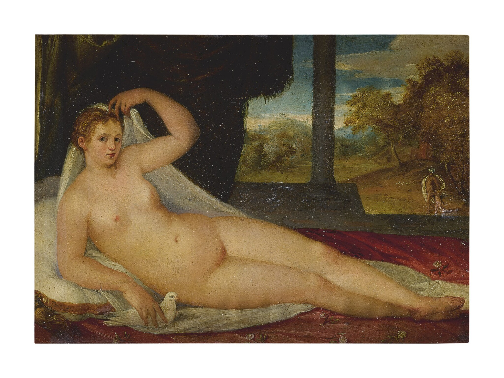 View full screen - View 1 of Lot 22.  ATTRIBUTED TO LAMBERT SUSTRIS | VENUS WITH A LANDSCAPE IN THE BACKGROUND.