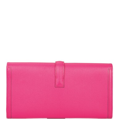 Hermès Rose Shocking Jige Elan 29cm of Chevre Mysore Leather