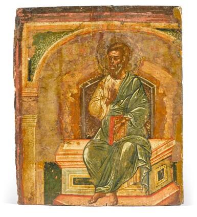 View 1. Thumbnail of Lot 276. Apostle Matthew, Greek, 17th Century.