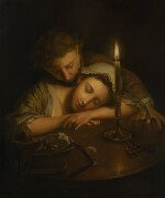 PHILIPPE MERCIER   Two lovers by candlelight