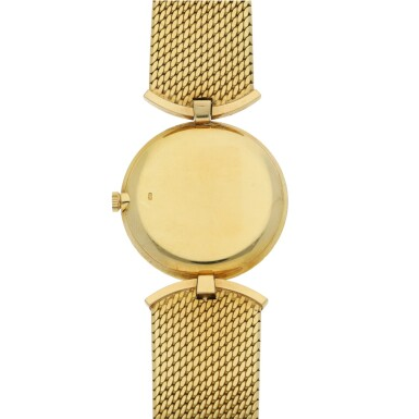 View 3. Thumbnail of Lot 120. PATEK PHILIPPE   REF 3453, A YELLOW GOLD AND SAPPHIRE-SET BRACELET WATCH CIRCA 1945.