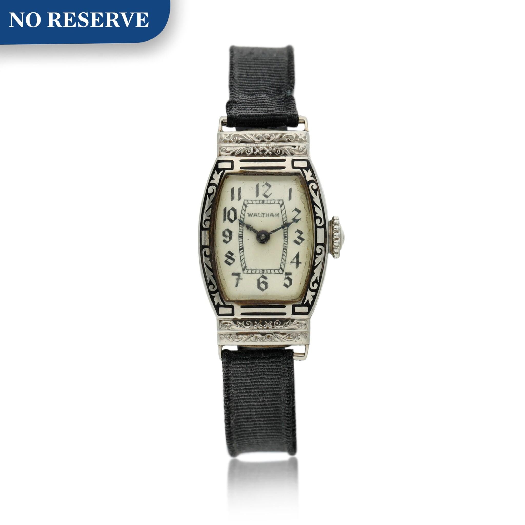View full screen - View 1 of Lot 162. A white gold wristwatch, Circa 1925 .