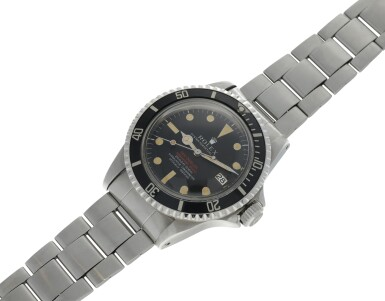 View 6. Thumbnail of Lot 6. ROLEX | REFERENCE 1665 DOUBLE RED SEA-DWELLER  A STAINLESS STEEL AUTOMATIC WRISTWATCH WITH DATE AND BRACELET, CIRCA 1971.
