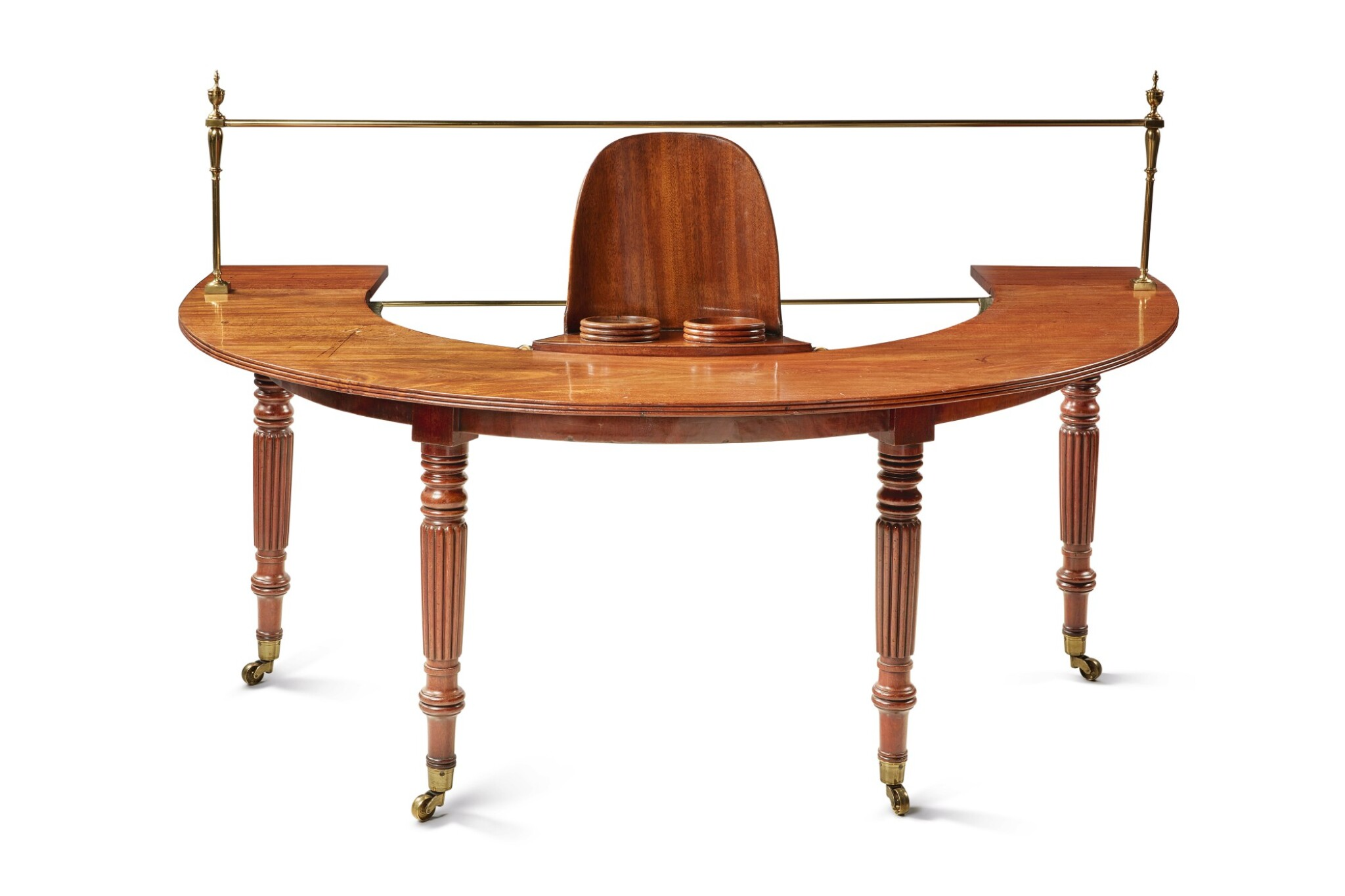 View full screen - View 1 of Lot 263. A REGENCY MAHOGANY HUNT TABLE IN THE MANNER OF GILLOWS, FIRST QUARTER 19TH CENTURY.