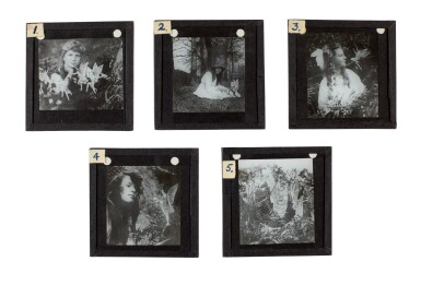 View 2. Thumbnail of Lot 72. [DOYLE, Sir A.C.] COTTINGLEY FAIRIES   Collection from M.T. Johnson, including 5 photographic plates, psychic spectacles.