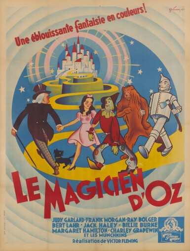 THE WIZARD OF OZ  / LE MAGICIEN D' OZ (1939) POSTER, FRENCH