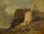 Edinburgh, a view of the Round Tower of Edinburgh Castle
