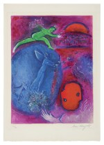 MARC CHAGALL | LAMON'S AND DRYAS'S DREAM (M. 311; SEE C. BKS. 46)