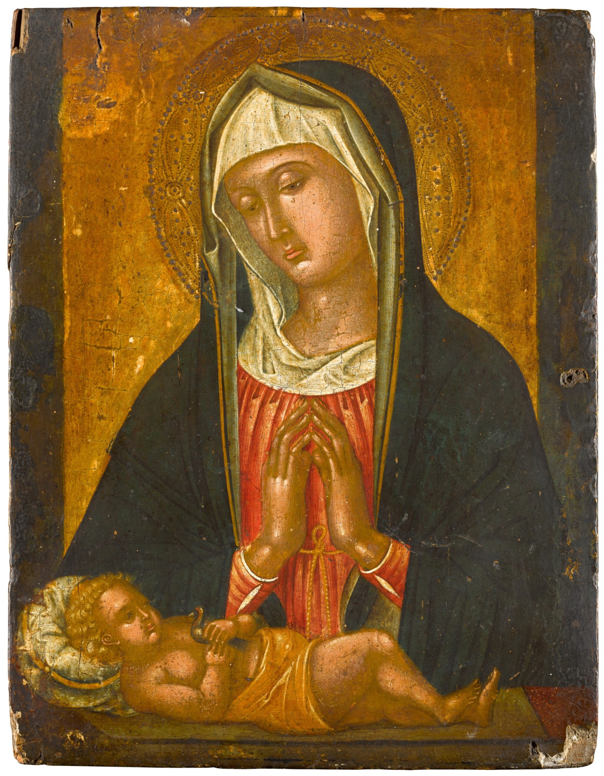 View 1 of Lot 102. The Madonna and Child.