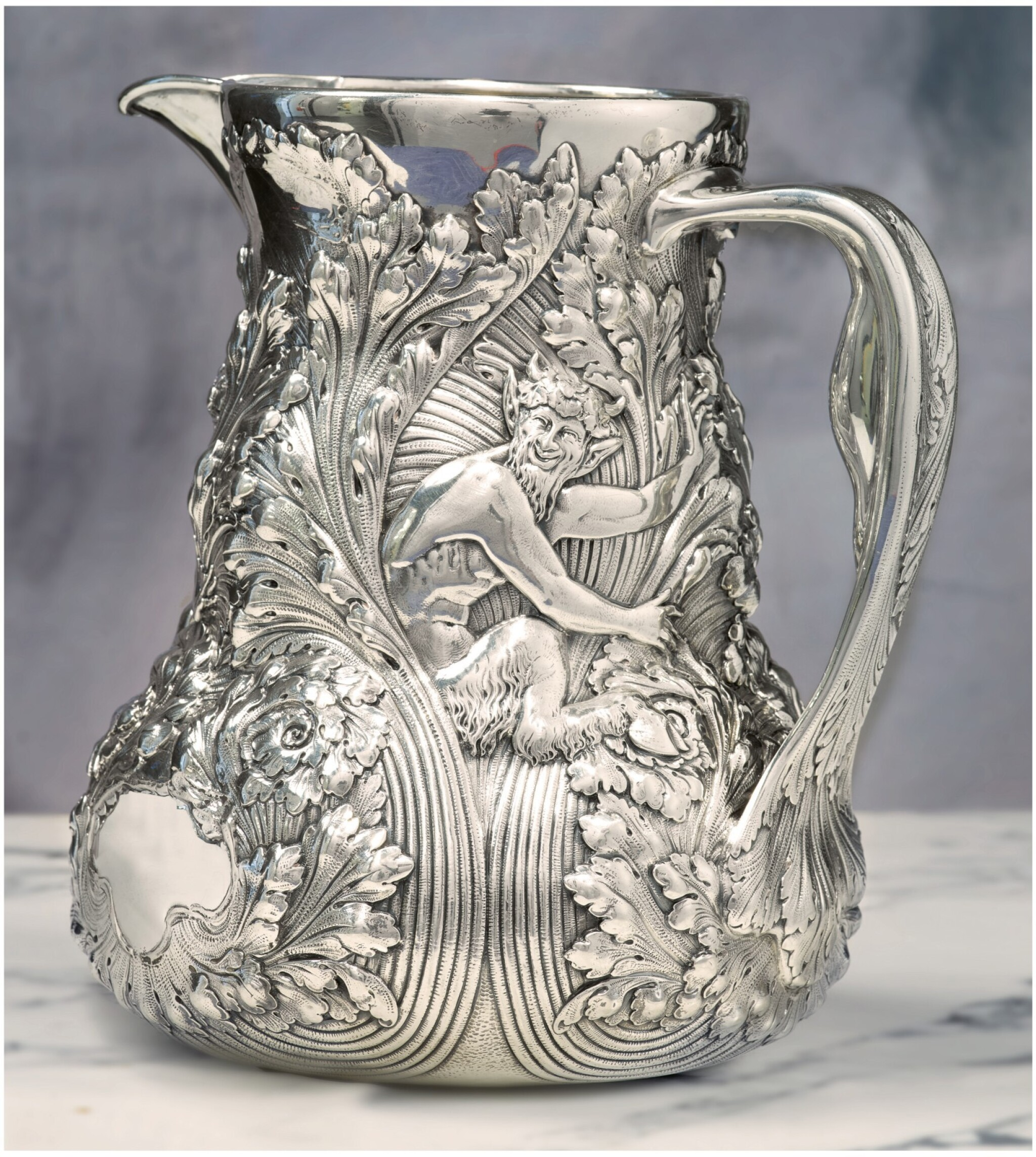 View full screen - View 1 of Lot 79. AN AMERICAN SILVER WATER PITCHER, TIFFANY & CO., NEW YORK, CIRCA 1890.