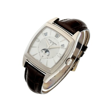 View 2. Thumbnail of Lot 159. REFERENCE 5135G GONDOLO CALENDARIO A WHITE GOLD AUTOMATIC ANNUAL CALENDAR WRISTWATCH WITH MOON PHASES, CIRCA 2010.