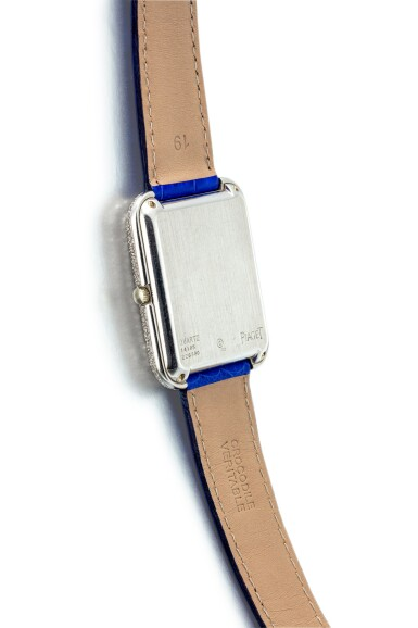 View 3. Thumbnail of Lot 1106. PIAGET   REFERENCE 14105, A WHITE GOLD, DIAMOND AND SAPPHIRE-SET WRISTWATCH WITH BETA 21 MOVEMENT, CIRCA 1970.