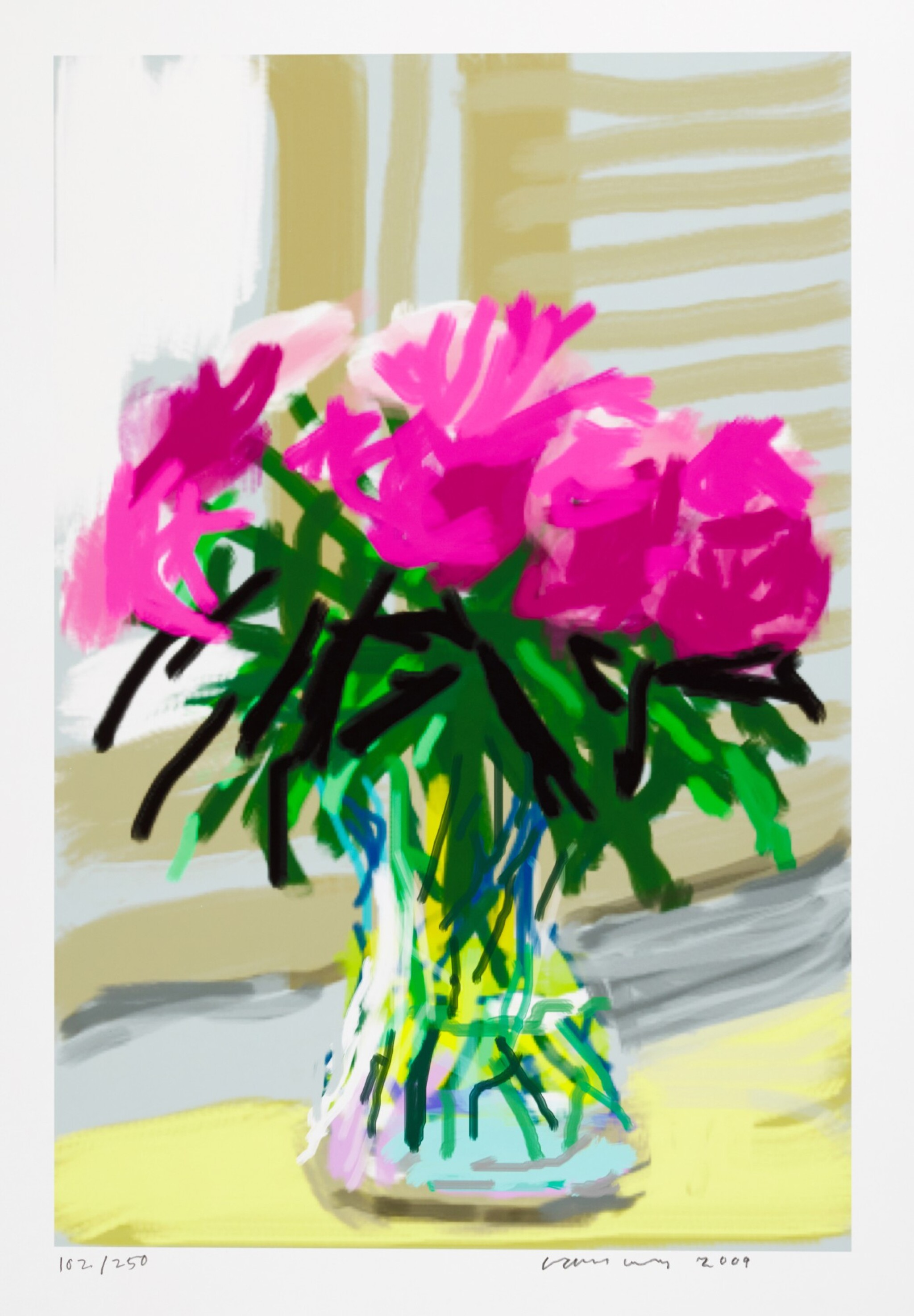 View full screen - View 1 of Lot 2. DAVID HOCKNEY R.A.   IPHONE DRAWING 'NO. 535', 28TH JUNE 2009.