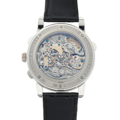 View 4. Thumbnail of Lot 309. DOUBLE SPLIT FLYBACK PLATINUM DOUBLE SPLIT FLYBACK CHRONOGRAPH WRISTWATCH WITH POWER RESERVE INDICATION CIRCA 2015.