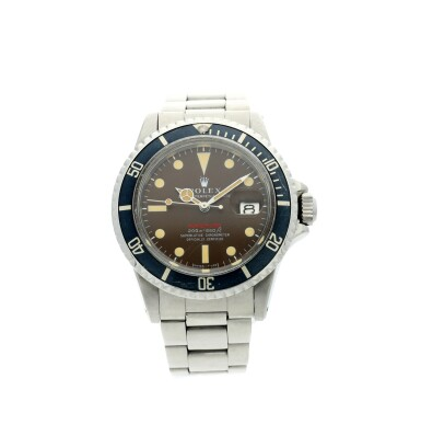 View 2. Thumbnail of Lot 126. REFERENCE 1680 SUBMARINER A STAINLESS STEEL AUTOMATIC WRISTWATCH WITH DATE, BRACELET AND TROPICAL DIAL, CIRCA 1970.