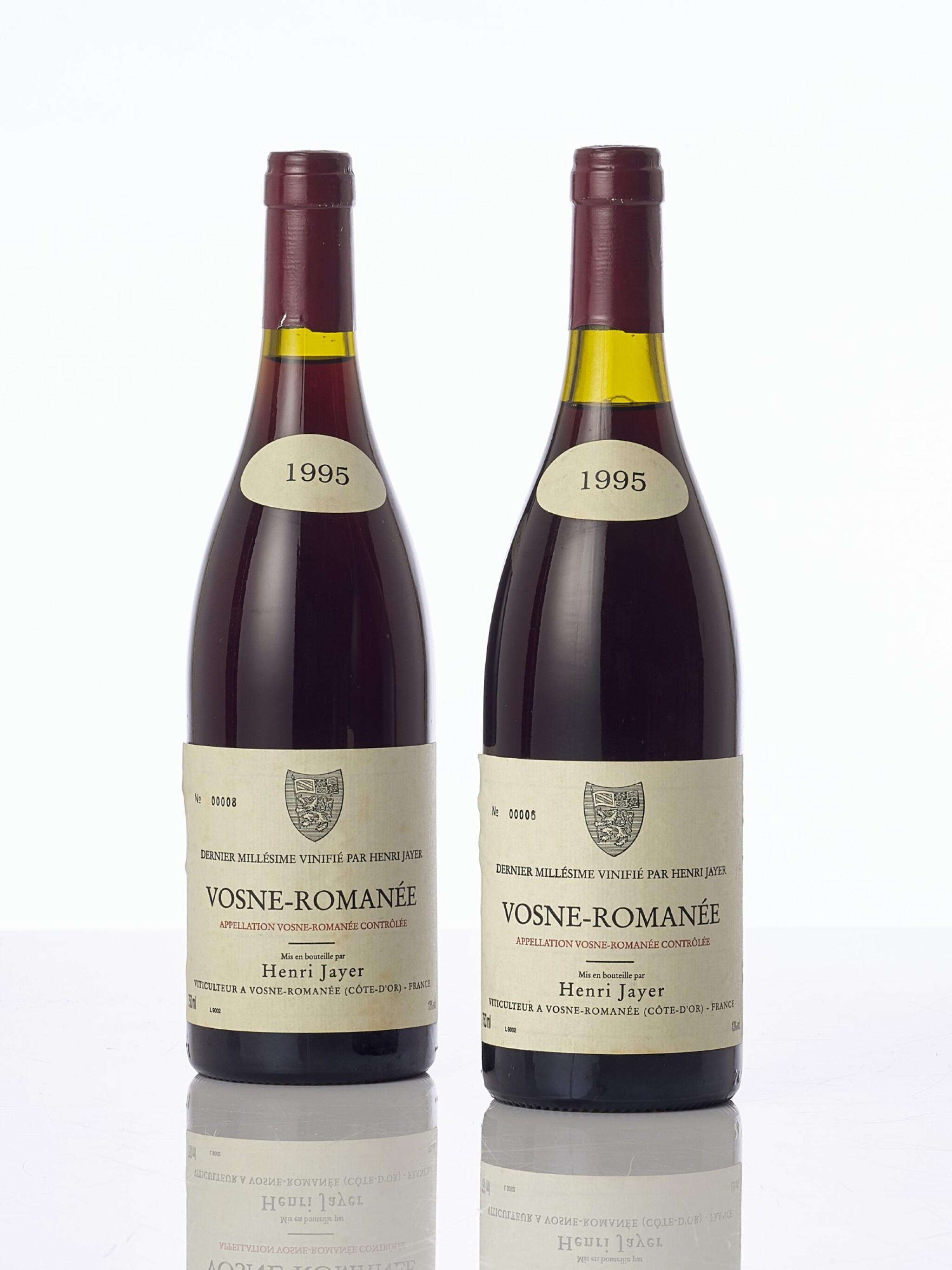 View full screen - View 1 of Lot 5501. Vosne Romanée 1995 Henri Jayer (4 BT).