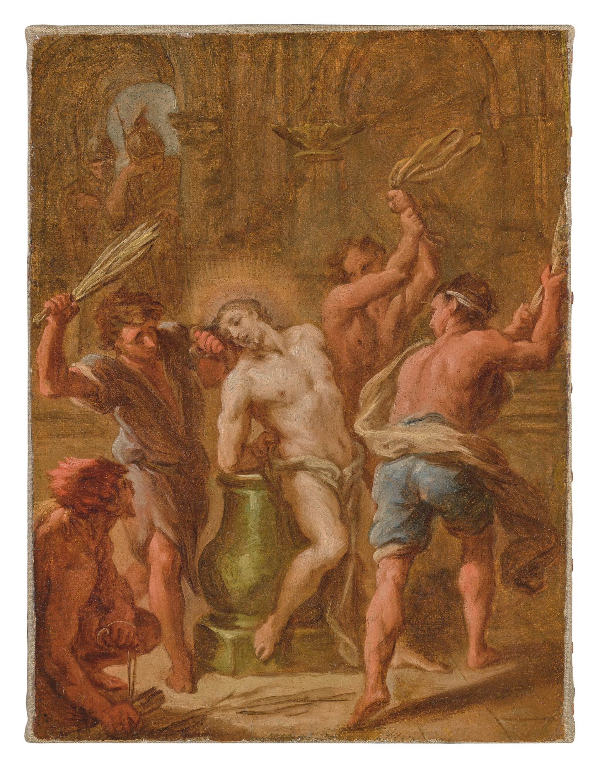 View full screen - View 1 of Lot 554. ETIENNE PARROCEL   THE FLAGELLATION OF CHRIST.