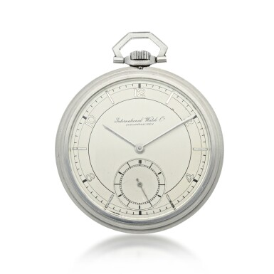 View 1. Thumbnail of Lot 88. IWC   A STAINLESS STEEL OPEN FACED WATCH, CIRCA 1940.