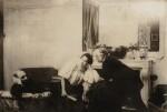 EDGAR DEGAS | PORTRAIT DE DEGAS AVEC PAUL POUJAUD ET MARIE FONTAINE, 1896