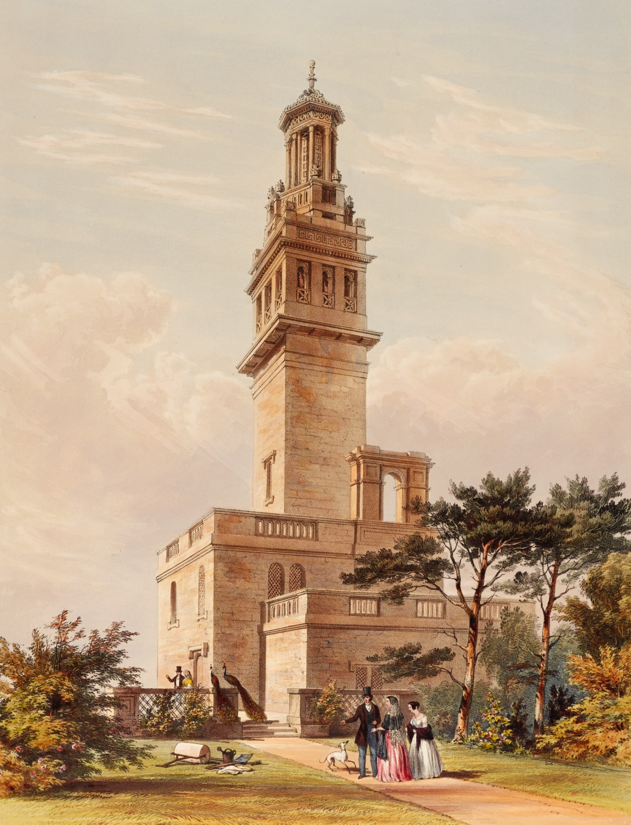 View full screen - View 1 of Lot 131. MADDOX, WILLES   LANSDOWN TOWER BATH. 1844.