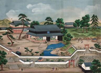 View 10. Thumbnail of Lot 116. ATTRIBUTED TO KAWAHARA KEIGA (1786–1860) STUDIO, A GROUP OF ELEVEN VIEWS STUDIO, EDO PERIOD, EARLY 19TH CENTURY  .