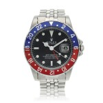 Reference 1675 GMT-Master 'Pepsi'  A stainless steel automatic dual time wristwatch with date and bracelet, Circa 1971