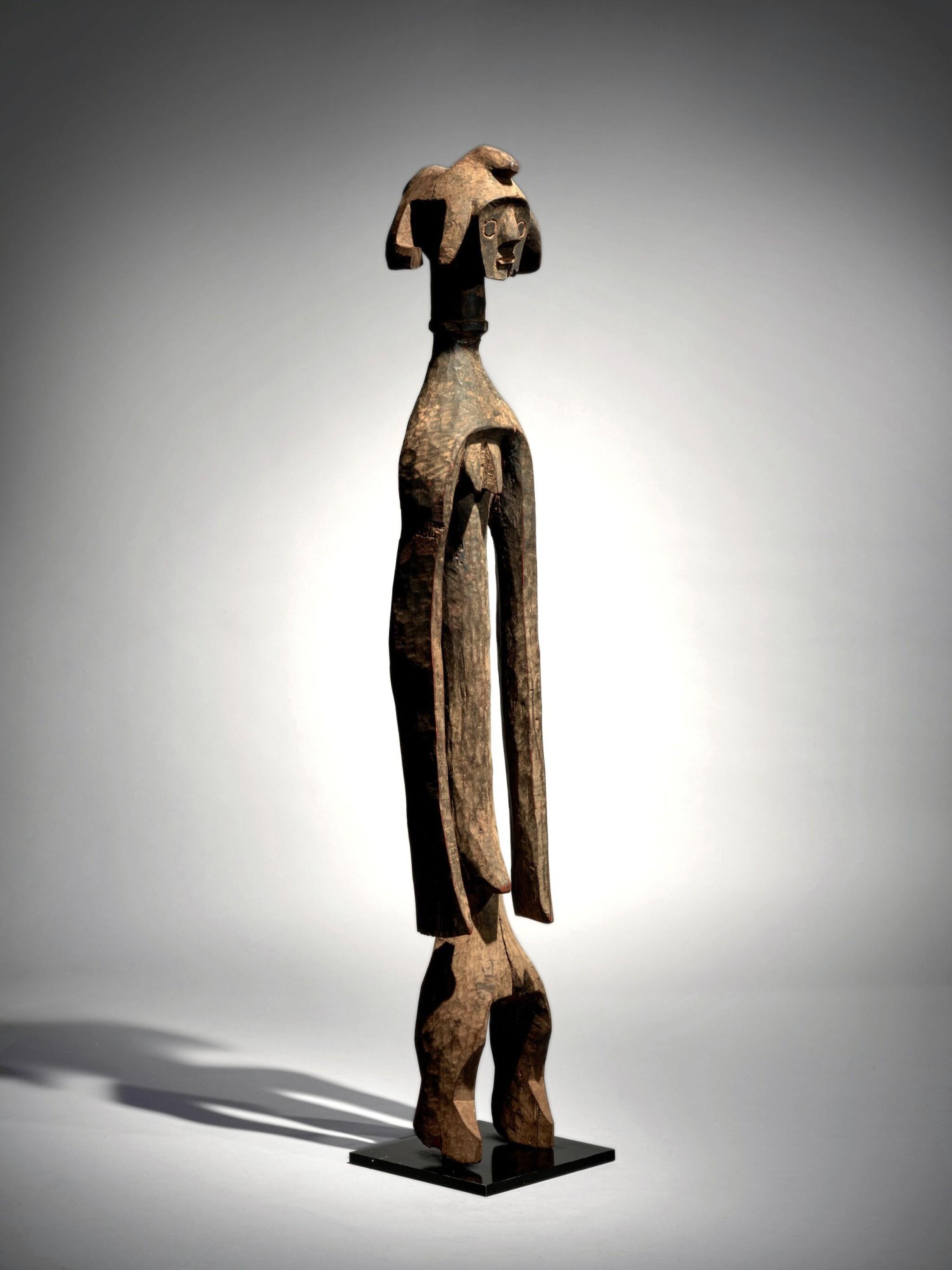 View full screen - View 1 of Lot 68. Mumuye Statue, Nigeria.