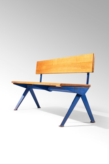 View 4. Thumbnail of Lot 31. Marcoule bench, designed in 1955.