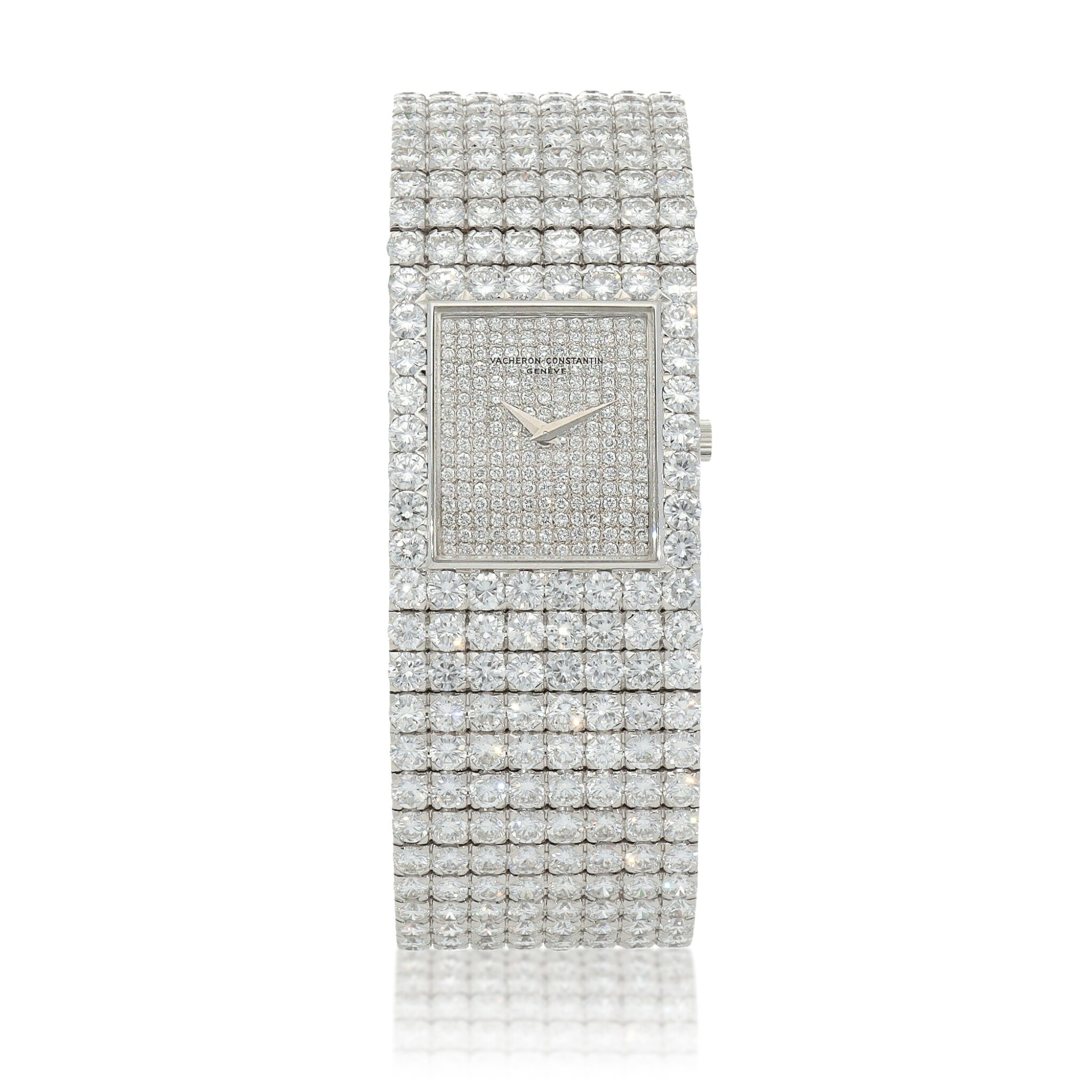 View full screen - View 1 of Lot 60. Kalla, Ref. 35704-707G White gold and diamond-set bracelet watch Made in 1990 | 江詩丹頓35704-707G型號「Kalla」白金鑲鑽石鍊帶腕錶,1990年製.
