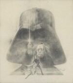 STAR WARS, ORIGINAL CONCEPT ARTWORK FOR THE AMERICAN POSTER CAMPAIGN, TOM JUNG, 1977