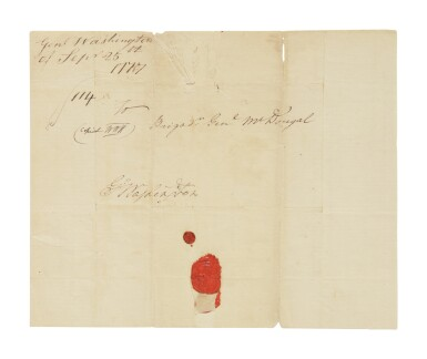 Washington, George. One autograph letter signed & 3 letters signed to General Alexander McDougall, September 1777