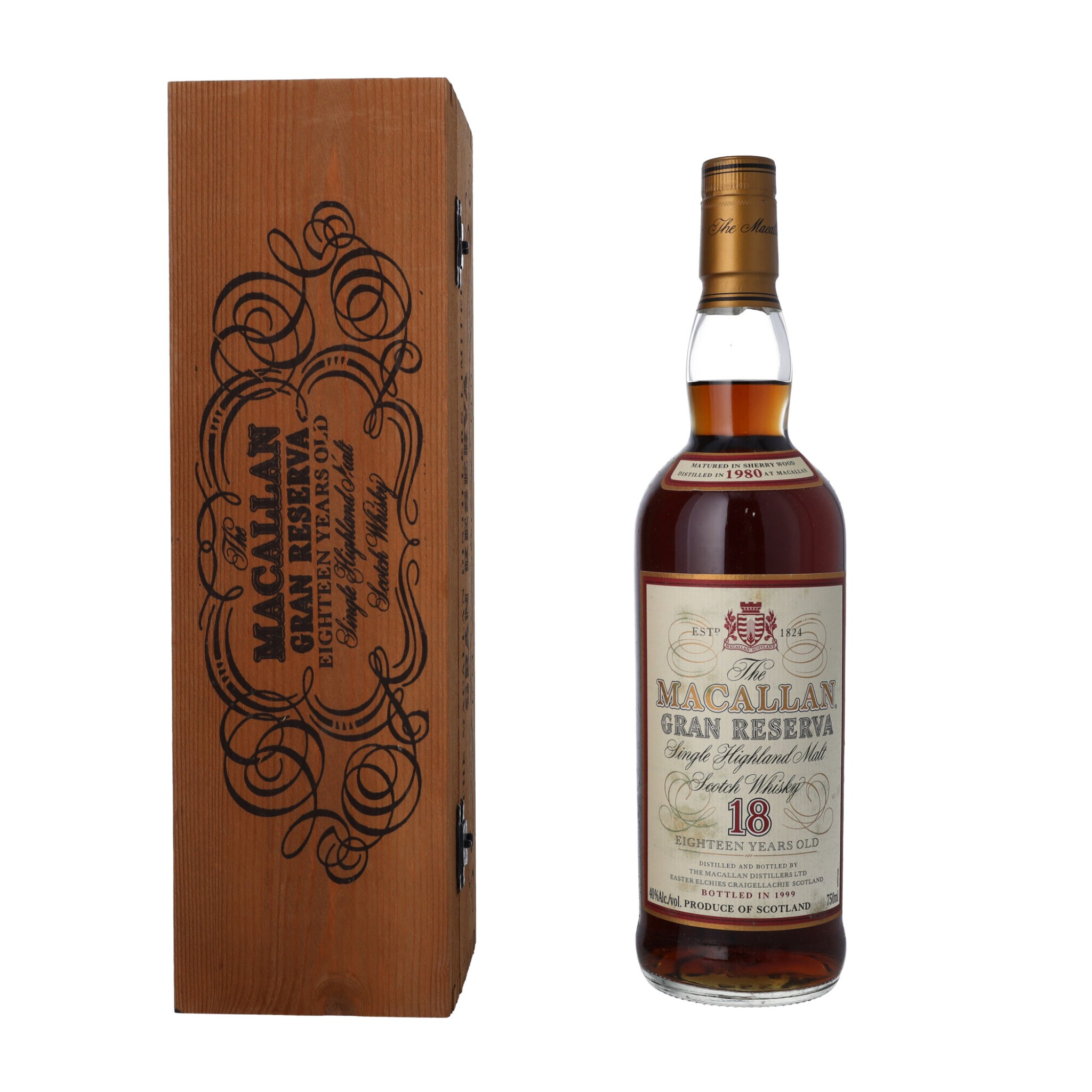 View full screen - View 1 of Lot 17. The Macallan 18 Year Old Gran Reserva 40.0 abv 1980 (1 BT75).