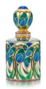 ENAMEL, GLASS AND DIAMOND PERFUME BOTTLE, ASPREY   琺瑯彩 配 玻璃 及 鑽石 香水瓶, Asprey