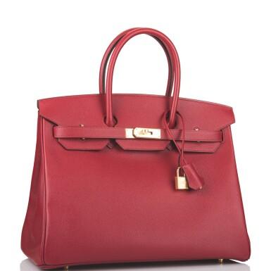 Hermès Rouge Grenat Birkin 35cm of Epsom Leather with Gold Hardware