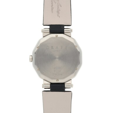 View 4. Thumbnail of Lot 420. REF GXXVI WHITE GOLD WRISTWATCH WITH DATE CIRCA 2010.