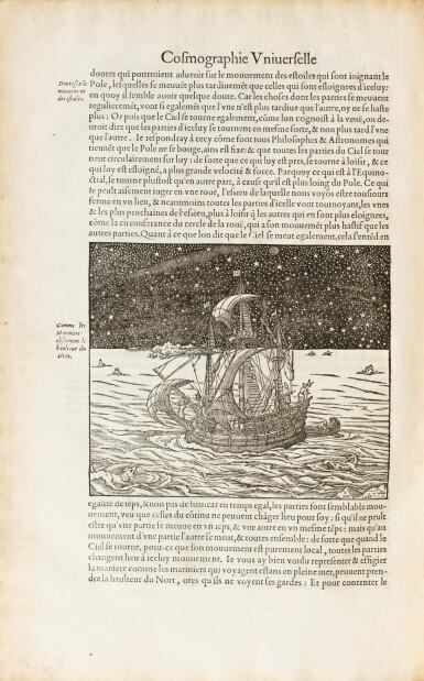 View 3. Thumbnail of Lot 197. THEVET. La Cosmographie universelle... Paris, 1575. 2 vol. in-folio. Reliure de l'époque..