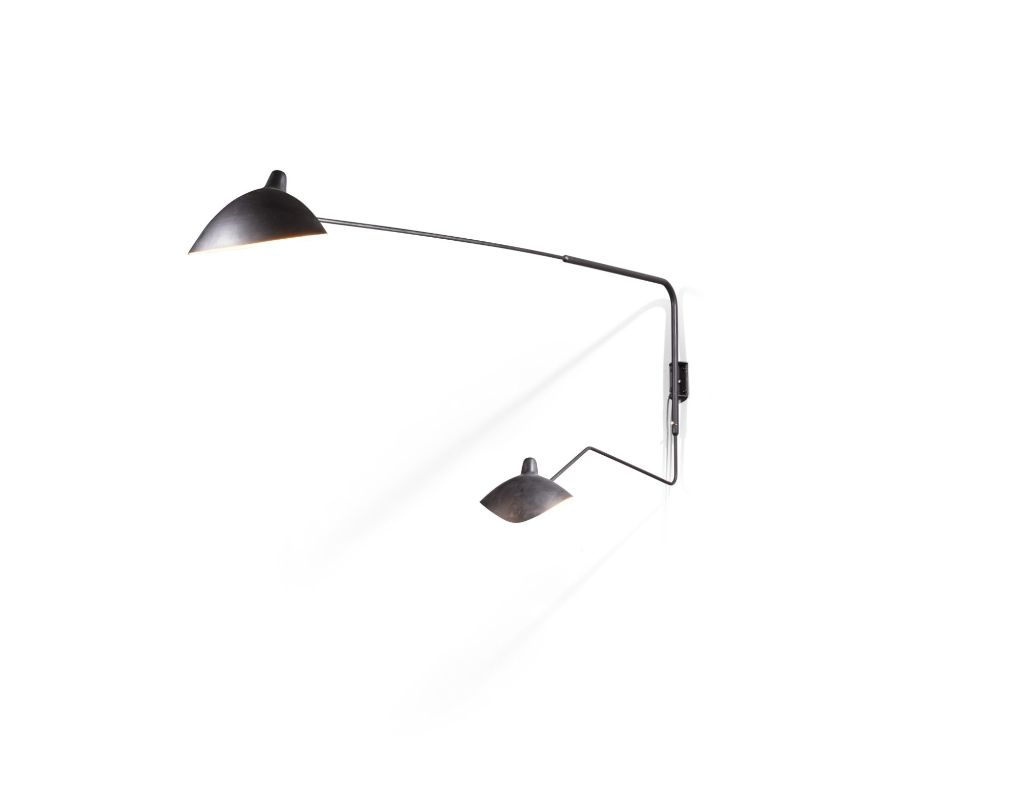View full screen - View 1 of Lot 28. Angled wall lamp, designed in 1954.