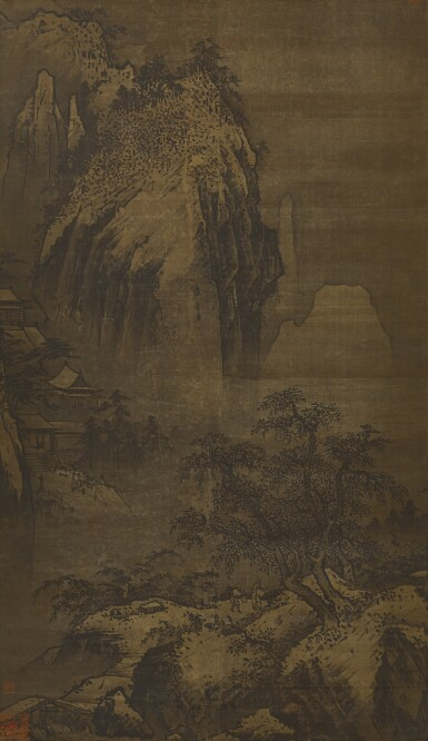 View 1. Thumbnail of Lot 2541. ANONYMOUS (14TH CENTURY, ATTRIBUTED TO XIA GUI) 佚名 (十四世紀;前傳夏圭) | TEMPLE IN WINTER MOUNTAINS 雪峰古寺.