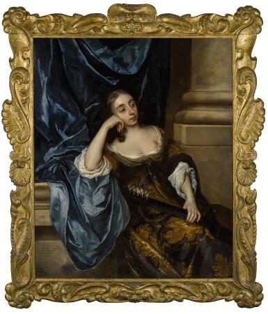 View 2. Thumbnail of Lot 27. Portrait of Elizabeth Capel, Countess of Carnarvon (1633–1678), with a guitar |《伊莉莎白・卡佩,卡那封伯爵夫人(1633-1678年)手持吉他的肖像》.