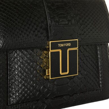 View 5. Thumbnail of Lot 51. Black 001 Top Handle in Semi Shiny Python with Metal Hardware, exclusively personalised with Mr Ford's signature, 2020.