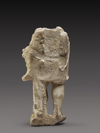 View 2. Thumbnail of Lot 78. A Roman Giallo Antico Marble Figure of Herakles, circa 2nd Century A.D..