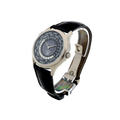 View 3. Thumbnail of Lot 61. REFERENCE 5575G-001 A LIMITED EDITION WHITE GOLD WORLDTIME WRISTWATCH WITH MOON PHASES, MADE TO COMMEMORATE THE 175TH ANNIVERSARY OF PATEK PHILIPPE, CIRCA 2015.