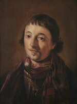 ATTRIBUTED TO SALOMON DE BRAY | PORTRAIT OF A YOUNG MAN, BUST-LENGTH, WEARING A GOLD CHAIN