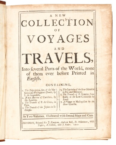 Stevens | A new collection of voyages and travels, 1711, 2 volumes