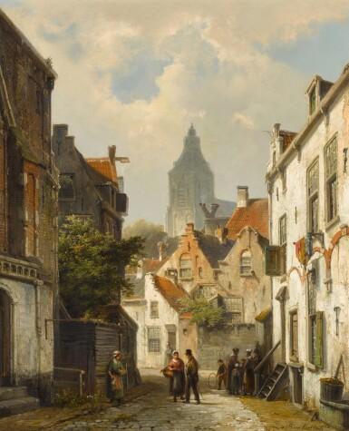View 1. Thumbnail of Lot 88. Dutch Street Scene.