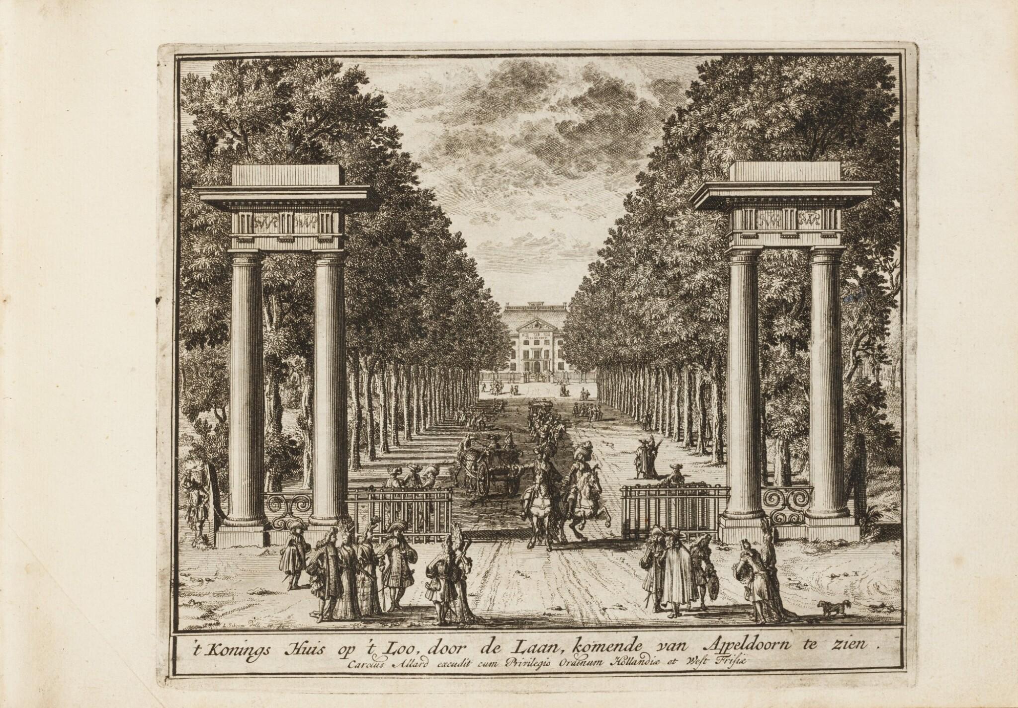 View full screen - View 1 of Lot 47. Tooneel der Voornaamste... Amsterdam, vers 1695. Relié avec : VALK. Veues et perspectives deSoesdyck..