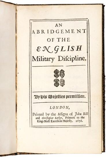 Abridgement of the English military discipline, 4 editions, 1676, 1684, 1685, 1686